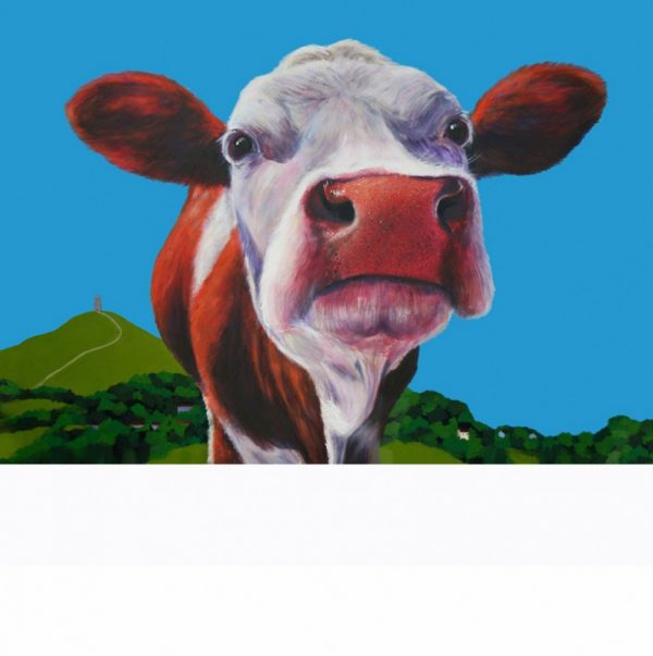 cow painting, cow canvas, cow print