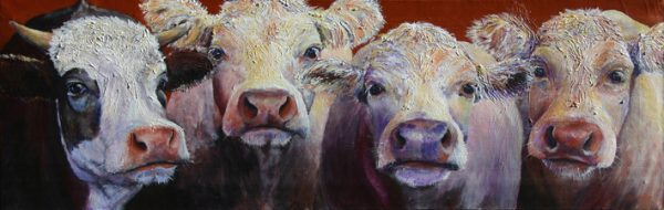 cow painting -John Paula Georgina and Rio
