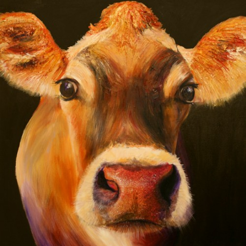 Rosanna the jersey cow painting