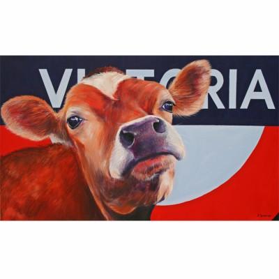 jersey cow, original painting