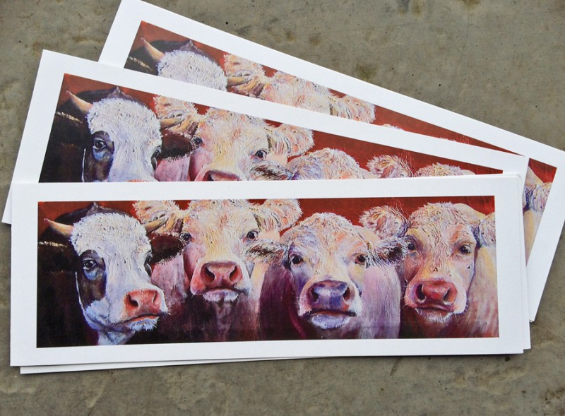cow cards, cow greetings cards, recylced card, eco friendly cards