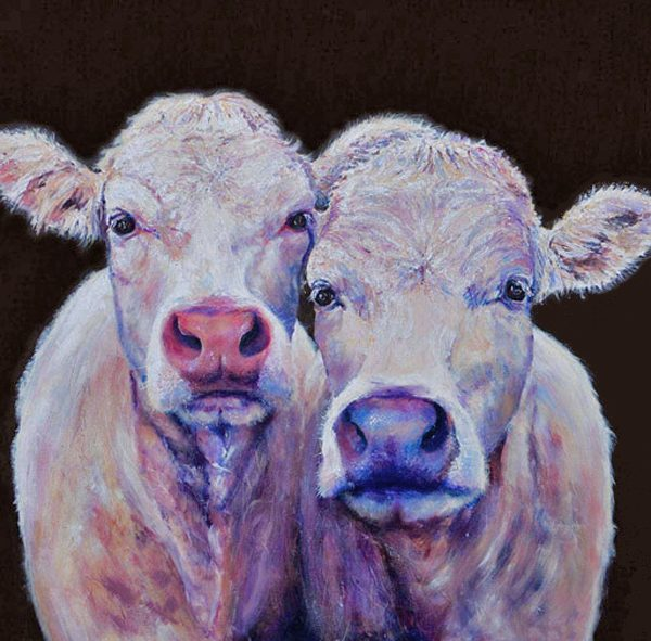 cow canvas, cow print