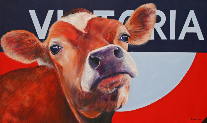 cow painting victoria
