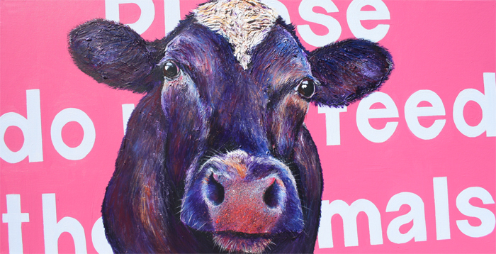 cow painting - gladys
