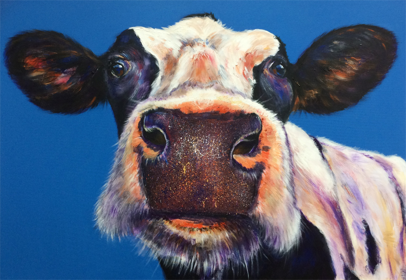 Cow With Glasses Canvas