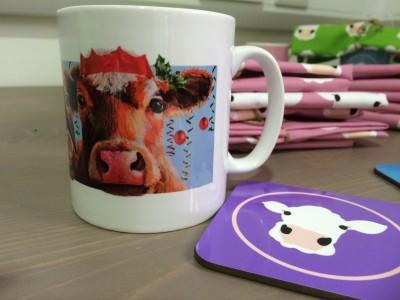 christmas cow mug 2
